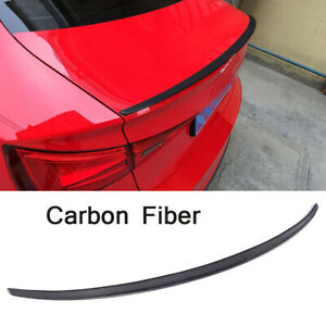 For Audi A3 S3 8V Carbon Fiber Rear Trunk Spoiler Boot Lip Wing Sedan 2014-2016