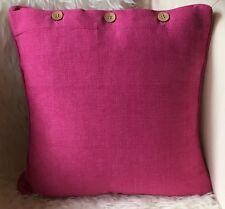 Cushion Cover Bright Pink Scatter Decorator Throw Sofa Couch Daybed Chair Decor