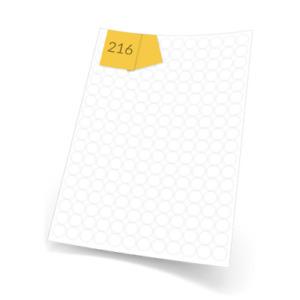 20 Sheets of Round Matt White Permanent Self Adhesive Labels (13mm Dia) LLR13