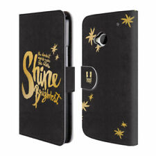 Fundas y carcasas brillantes en piel color principal oro para teléfonos móviles y PDAs