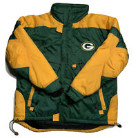 Vintage 90's Green Bay Packers Logo 7 Game Day NFL Jacket Mens Size XL EUC