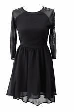 Topshop vestido señora dress GR 34 (XS) negro * nuevo *