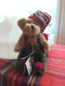 "Boyds Bears ELDON ELFBERG #562416 2002 5"" Plush Elf Bear Christmas Ornament"