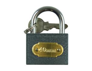 PADLOCK 40mm Heavy Duty Cast Iron Outdoor Safety Security Shackle Lock 2 Key Set