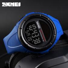 Mens Solar Energy Digital Watch Sports Running Shock Water Proof Stopwatch