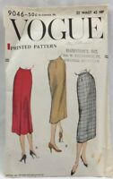 1957 Vogue Sewing Pattern #9046 Ladies Skirt 2 Styles 32 Waist 42 Hip 5021F