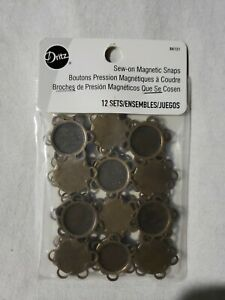 Dritz magnetic Sew-On Snaps Brand NEW Pkg of 12 Snaps Free S&H