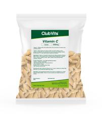 Vitamin C 1000mg Rosehip Bioflavonoids 365 tablets High Strength UK ClubVits GSB