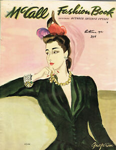 1940s McCall Fall 1941 Fashion Book Magazine Pattern Book Catalog E-Book on CD