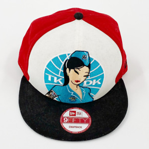 Tokidoki TKDK Asian Hip hop Tattoo New Era Baseball Cap Red White Snap Back O/S