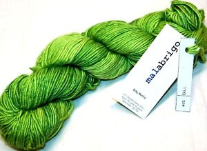 Spring Green DILL 150yd Skein Malabrigo SILKY MERINO Wool Silk xSoft Luxury YARN