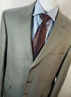 Jack Victor Men Sz: 42R Tan 3 Button 100% Pure Cashmere Blazer Sport Coat Jacket