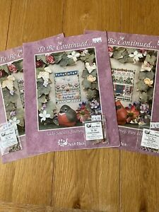 Just Nan Cross Stitch Charts - Lady Scarlet's Journey In 3 Parts With Beadpacks