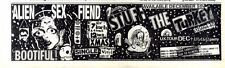 "5/12/87pg18 Single & Cancelled Tour Advert 3x10"" Alien Sex Fiend, Stuff The Turk"