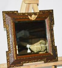 Antique Ornate Parcel Gilt Wall Mirror featuring Cherub [PL2767]