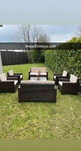 8 seater rattan garden furniture set