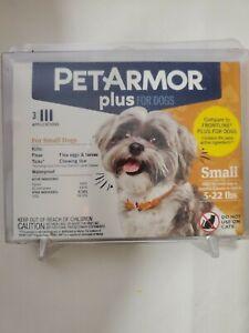 PetArmor Plus Flea & Tick Topical 3 Applications for small Dogs 6-22lb