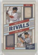 2019 Leather & Lumber Rivals Materials Holo Silver /25 Mookie Betts Aaron Judge