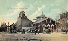 BIG FOUR DEPOT Kenton, Ohio Train, Railroad Station 1915 Vintage Postcard