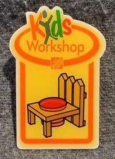 LMH PINBACK Pin Button PICKET FENCE PLANTER Flower Home Depot Kids '10 Workshops