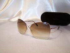 Authentic Tom Ford Colette TF 250 28F Rose Gold Butterfly Sunglasses 63mm