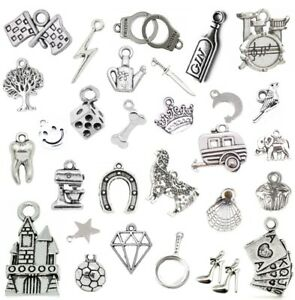 Stunning Collection of Tibetan Silver CHARMS Necklace Bracelet Jewellery Making