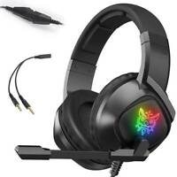 Gaming Headset Wired LED Headphones with Mic For  Laptop PS4 Slim Xbox One  X S