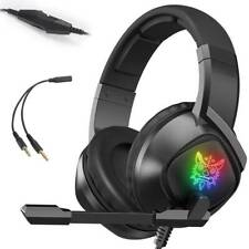 3.5mm K15 Gaming Headset LED MIC Headphones for PC Laptop PS4 Slim Xbox One X S