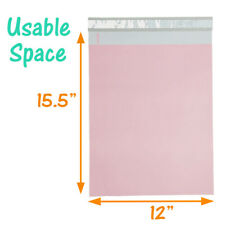 12x15 Pastel Pink Ampteal Poly Mailers Hot New Designer Shipping Mailing Bags