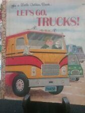 LET'S GO, TRUCKS! Little Golden Book 1973 (G/C)