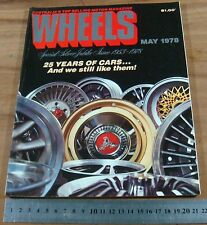 1978.WHEELS.2CV CITROEN.GOLF.BEETLE.AUDI.25th  ANNIVERSARY ISSUE