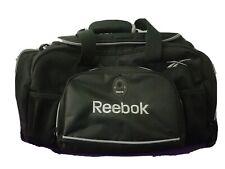 Reebok Black Nylon Duffle Bag Gym Athletic Sports Tote