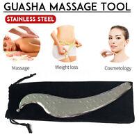 Acier Inoxydable Gua Sha Guasha Plaque Masseur Outil Grattoir Physique
