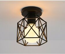 Retro Iron Industrial Style Metal Wire Frame Ceiling Light Shades Squirrel Cage