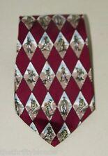 Vintage Pierre Cardin Golf Golfer Wine Necktie Silk 16616 Retro