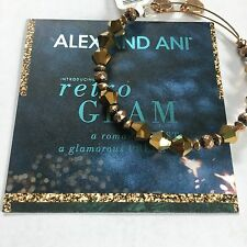 "ALEX AND ANI ""GOLDEN LUSTER WONDER"" BRACELET IN RUSSIAN GOLD! NWT! CARD! RARE!"