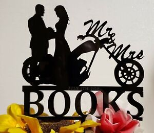 Mr and Mrs Motorcycle Wedding cake topper, HD personalized cake topper