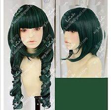 Dead Master DM Styled Cos Wig, Black Rock Shooter Synthetic Wig,Color:Dark Green