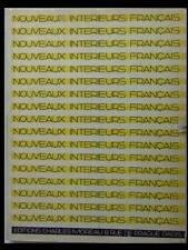 NOUVEAUX INTERIEURS FRANCAIS - 1930 - MOREAU -ART DECO, CHAREAU, HERBST, ADNET