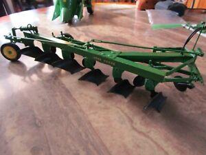 John Deere Farm Toy Custom Rare 1 Off 6B Semi Mounted Tillage Plow Super Sharp