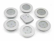 6PCS LED Wireless Kitchen Counter Under Cabinet Closets Lighting Puck  Light ic
