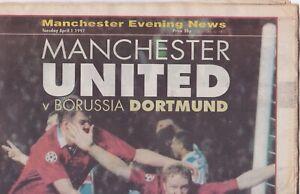 MANCHESTER UNITED v BORUSSIA DORTMUND Champ Leg s/f 1997 Manch E. News Special