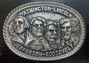BOUCLE DE CEINTURON - MONT RUSHMORE - WASHINGTON LINCOLN JEFFERSON ROOSEVELT