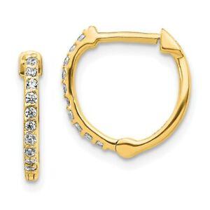 14K Yellow Gold Diamond Hinged Hoop Earrings EM5353-020-YA
