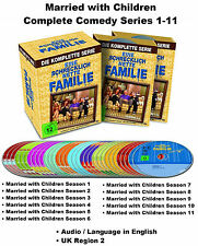 Married with Children Complete Comedy Series Seasons 1-11 DVD BoxSet UK Region 2