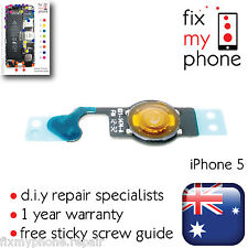 iPhone 5 OEM Home Button Flex Cable Ribbon Genuine Repair Replacement