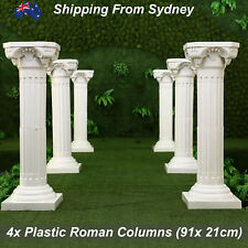 4 X Decorative Plastic Props Roman Pillar Column Wedding Pedestal Wedding Party