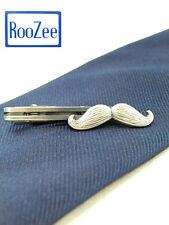 Mustache Unique Tie Clasps & Tacks RooZee Tie Clip Tie Bar Tie Pin Made in Japan