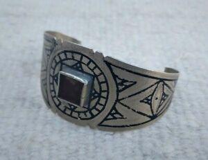 Unique Rare Ancient Viking Bracelet Black Stone Silver Color Authentic Artifact