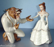 Lenox Disney Beauty & The Beast 2 Figurines My Hand My Heart is Yours BELLE New